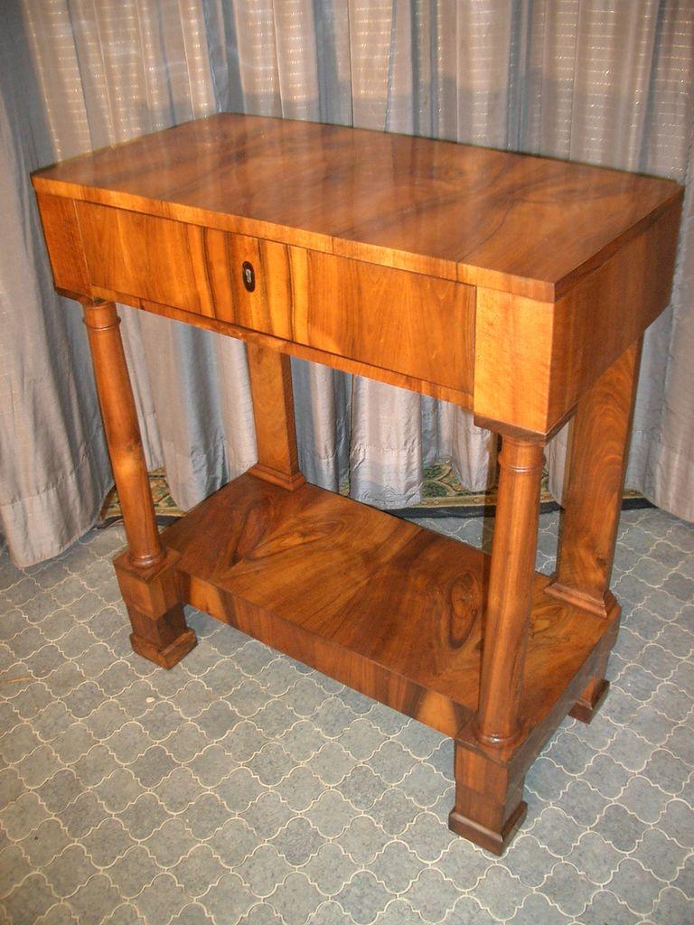 biedermeier nussbaum konsole antike m bel antiquit ten restauration bracciali m nchen. Black Bedroom Furniture Sets. Home Design Ideas