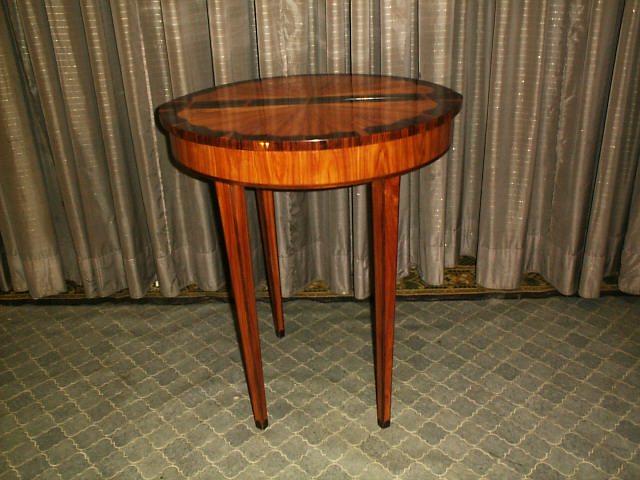 2-Wandkonsolen Tisch aus Rosenholz und Palisander